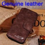 IPHONE SE 5S retro vintage læder cover mocca Mobiltelefon tilbehør