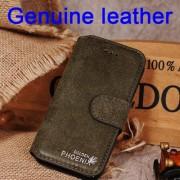 IPHONE SE 5S retro vintage læder cover armygrøn Mobiltelefon tilbehør
