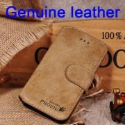 IPHONE SE 5S retro vintage læder cover beige Mobiltelefon tilbehør