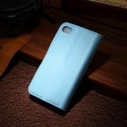 IPHONE 4S læder pung cover, blå Mobiltelefon tilbehør