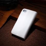 IPHONE 4S læder pung cover, hvid Mobiltelefon tilbehør