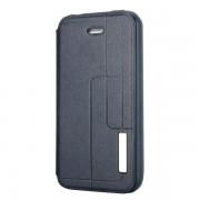 IPHONE 4S læder cover mørkeblå Mobiltelefon tilbehør