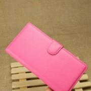 HUAWEI ASCEND P7 læder cover med kort holder rosa Mobiltelefon tilbehør