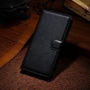 HUAWEI HONOR 6 læder cover med kort lomme, sort Mobiltelefon tilbehør