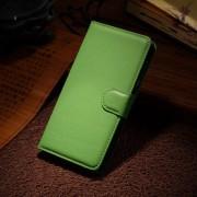 HUAWEI HONOR 6 læder cover med kort lomme, grøn Mobiltelefon tilbehør