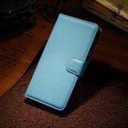 HUAWEI HONOR 6 læder cover med kort lomme, lyseblå Mobiltelefon tilbehør