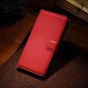 HUAWEI HONOR 6 læder cover med kort lomme, rød Mobiltelefon tilbehør