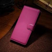 HUAWEI HONOR 6 læder cover med kort lomme, rosa Mobiltelefon tilbehør