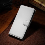 HUAWEI HONOR 6 læder cover med kort lomme, hvid Mobiltelefon tilbehør