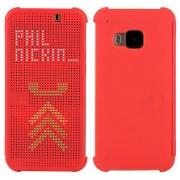 HTC ONE M9 dot view cover, rød Mobiltelefon tilbehør