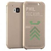 HTC ONE M9 dot view cover guld Mobiltelefon tilbehør