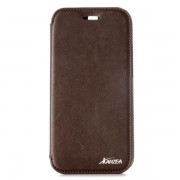 HTC ONE M8 Karzea læder cover, brun Mobiltelefon tilbehør
