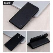 HTC ONE M8 læder cover med kort lomme, sort Mobiltelefon tilbehør