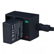 Dobbelt usb oplader til GoPro HERO 3, 3+ Action kamera