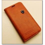 SAMSUNG GALAXY S6 retro læder cover med kort lomme, rødbrun Mobiltelefon tilbehør