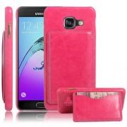 SAMSUNG  GALAXY A3 (2016) læder bag cover med kort lomme, rosa Mobiltelefon tilbehør