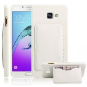 SAMSUNG GALAXY A5 (2016) læder bag cover med kort lomme, hvid Mobiltelefon tilbehør