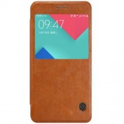 SAMSUNG GALAXY A5 (2016) læder cover med vindue i business stil, brun Mobiltelefon tilbehør