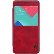 SAMSUNG GALAXY A5 (2016) læder cover med vindue i business stil, rød Mobiltelefon tilbehør