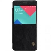 SAMSUNG GALAXY A5 (2016) læder cover med vindue i business stil, sort Mobiltelefon tilbehør