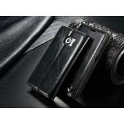 SAMSUNG GALAXY S6 EDGE luksus vintage læder cover, sort Mobiltelefon tilbehør