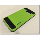SAMSUNG GALAXY S6 EDGE PLUS verus damda bag cover med kort lomme, grøn Mobiltelefon tilbehør