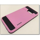 SAMSUNG GALAXY S6 EDGE PLUS verus damda bag cover med kort lomme, pink Mobiltelefon tilbehør