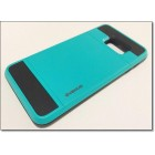 SAMSUNG GALAXY S6 EDGE PLUS verus damda bag cover med kort lomme, turkis Mobiltelefon tilbehør