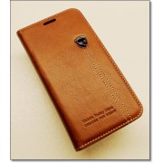 SAMSUNG GALAXY S6 EDGE retro læder cover med kort lomme, brun Mobiltelefon tilbehør