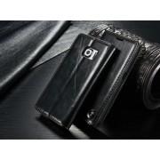SAMSUNG GALAXY S6 luksus vintage læder cover, sort Mobiltelefon tilbehør