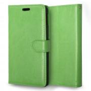 SONY XPERIA M4 AQUA læder pung cover, grøn Mobiltelefon tilbehør