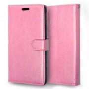 SONY XPERIA M4 AQUA læder pung cover, pink Mobiltelefon tilbehør