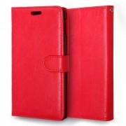 SONY XPERIA M4 AQUA læder pung cover, rød Mobiltelefon tilbehør