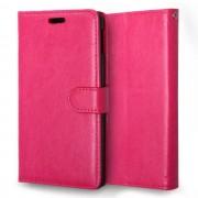 SONY XPERIA M4 AQUA læder pung cover, rosa Mobiltelefon tilbehør