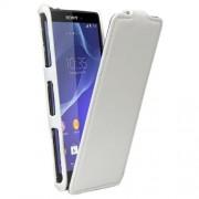 SONY xperia z3 compact læder cover, hvid Mobiltelefon tilbehør