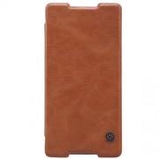 SONY XPERIA Z3+ læder cover i business stil, brun Mobiltelefon tilbehør
