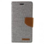 SONY xperia z3 mercury canvas læder pung cover, grå Mobiltelefon tilbehør