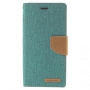 SONY xperia z3 mercury canvas læder pung cover, grøn Mobiltelefon tilbehør