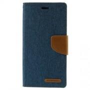 SONY xperia z3 mercury canvas læder pung cover, mørkeblå Mobiltelefon tilbehør