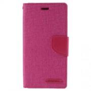 SONY xperia z3 mercury canvas læder pung cover, rosa Mobiltelefon tilbehør