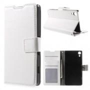 SONY XPERIA Z3+ pung læder cover, hvid Mobiltelefon tilbehør