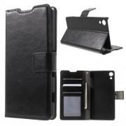 SONY XPERIA Z3+ pung læder cover, sort Mobiltelefon tilbehør