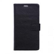 SONY XPERIA Z5 COMPACT full grain læder cover med kort lommer, sort Mobiltelefon tilbehør