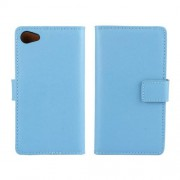 SONY XPERIA Z5 COMPACT læder cover med kort lommer, blå Mobiltelefon tilbehør