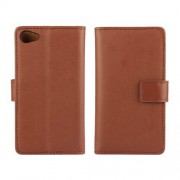 SONY XPERIA Z5 COMPACT læder cover med kort lommer, brun Mobiltelefon tilbehør