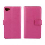 SONY XPERIA Z5 COMPACT læder cover med kort lommer, rosa Mobiltelefon tilbehør