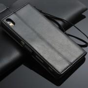 SONY XPERIA Z5 læder cover med kort lommer, sort Mobiltelefon tilbehør