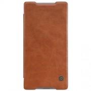 SONY XPERIA Z5 PREMIUM læder cover i business stil, brun Mobiltelefon tilbehør