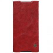 SONY XPERIA Z5 PREMIUM læder cover i business stil, rød Mobiltelefon tilbehør